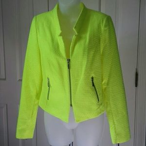 A.N.A. neon yellow textured sport jacket